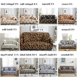 1/2/3/4 Seater Stretch Elastic Fabric Sofa Cover Sectional C