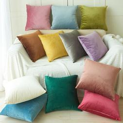 1/4PC Velvet Throw Pillow Cover Case Sofa Couch Cushion Soft