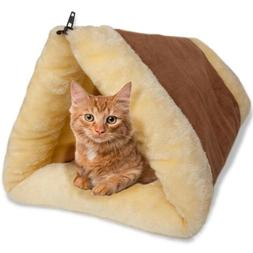 2-in-1 Cat Pet Bed Tunnel Fleece Tube Cushion Mat Pad For Do