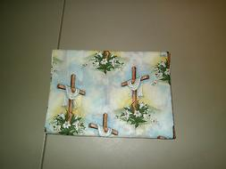 1-Easter Lilies/Beautifully Draped Cross King Size Pillowcas