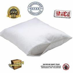 1 new white bed bug zippered pillow protector pillow covers