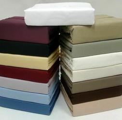 1 PC Fitted Sheet & 2 PC Pillow Case 1000 TC Best Egyptian C