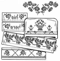 10% Off Aunt Martha's Iron-on Embroidery Pattern-Lovely Bord