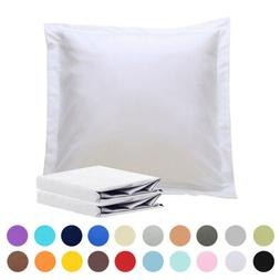 NTBAY 100% Brushed Microfiber Pillow Shams Set of 2, Soft an