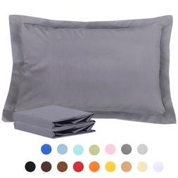 NTBAY 100% Brushed Microfiber Standard Pillow Shams Set of 2