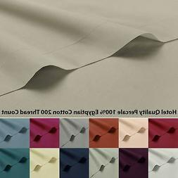 100% Cotton Percale Fitted Sheet Base Valance Housewife Pill