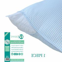 100% Cotton Travel  Zippered Pillow Case Protector: 14 x 20