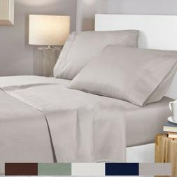 100% Egyptian Cotton 400 Thread Count 4 Piece Deep Pocket Be