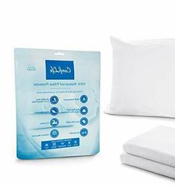 100% Waterproof Allergy Relief Pillow Cases. Bed Bug & Dust