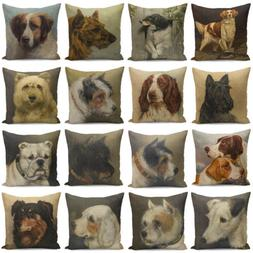 18'' Dog Print Pillow Cover Throw Pillow Case Cushion Cover