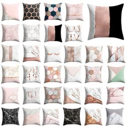 "18"" Geometric Marble Texture Throw Pillow Case Cushion Cover"