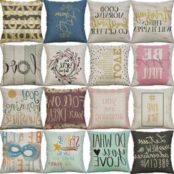 "18"" Letter Style Pattern Pillow Case Waist Cushion Cover Thr"