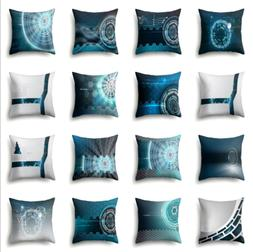 Polyester color high-tech projection pillow creative home so