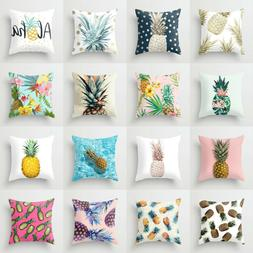 18'' Polyester pineapple pillow case cover sofa waist cushio