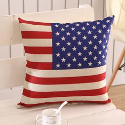 18 x 18 Inch Throw Home Decorations Stars And Stripes Cushio
