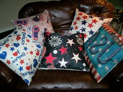 18''x18''Square Throw Pillow Case Cushion Cover w/ Invisible