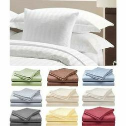 1800 Series Egyptian Bed Sheet Set Deep Pocket Striped 6 Pie
