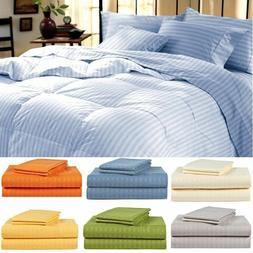 1800 Series Hotel Edition Egyptian Bed Sheet Set - Striped,