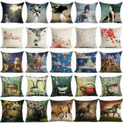 18inch Animals Pillow Case Pillow Cover Sofa Cushion Cover F
