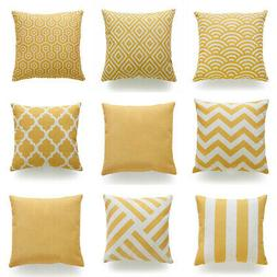 """18x18"""" Yellow Accent Throw PILLOW COVER Sofa Couch Bed Home"""