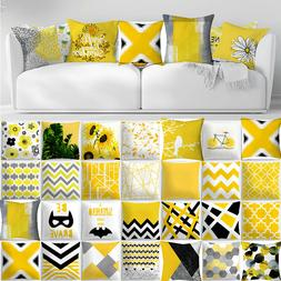 """18x18"""" Yellow Accent Throw PILLOW COVER Sofa Couch Home Bed"""