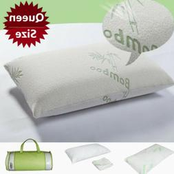 1Pack Hypoallergenic Memory Foam Bamboo Pillow Removable Zip