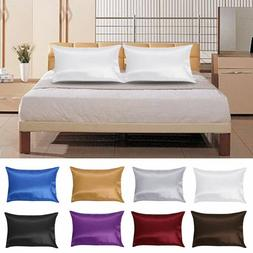 1Pc Pure Mulberry Silk Pillow Case Pillowcase Cover Housewif