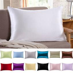 100% Pure Mulberry Silk Pillow Cases Cushion Covers Zipper C