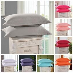 1Pc Solid Cotton Bed Pillowcases Bedding Pillow Case Cover S