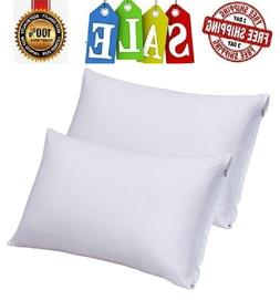 2 Pack White/Black/Grey King Size Cotton Pillow Case with Zi