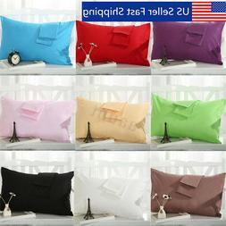 2 Pcs Cotton Cloth Pillow Cases Covers Bed Pillowcase Standa