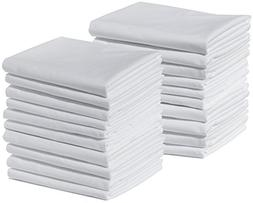 20 King Size 100% Cotton White T220 Percale Wholesale Bulk D