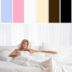 200TC 100% Egyptian Cotton Duvet Cover Fitted Flat Sheet Pil