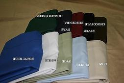 20x54 Body Pillowcase Poly Cotton Percale zipper or inside f