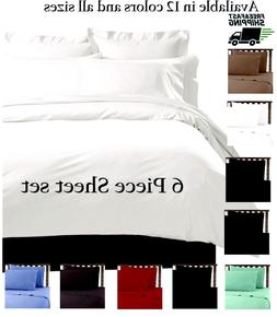 6 PIECE LUXURY 2100 HOTEL SERIES DEEP POCKET BED SOFT SHEET