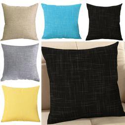 Pack of 2 Sofa Throw Pillow Cases Cushion Covers Solid Pillo