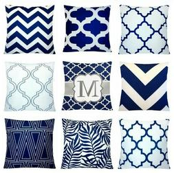 """24x24"""" Navy Blue Accent Decorative Throw PILLOW COVER Sofa C"""