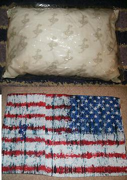 """2PC GO ANYWHERE MY PILLOW & USA CASE 12"""" x 18"""" WASH & DRY AS"""