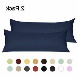 2PCS Body Pillow Covers Soft 1800 Microfiber Long Pillowcase