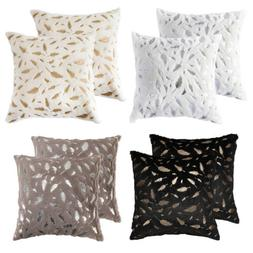 2Pcs Fluffy Faux Fur Soft Throw Pillow Case Sofa Couch Bed W