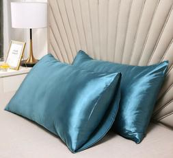 Standard Satin Silk Bed Pillowcase Home 2pcs/one set Bedding