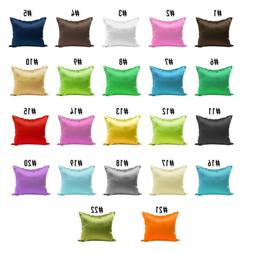 2pcs Soft Silky Satin Pillow Case Cover Queen Size For Sofa