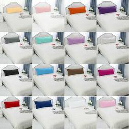 2/1Pcs Solid Pillow Case Cover Pillowcase Standard Queen Kin
