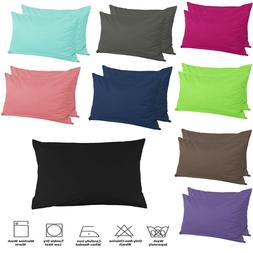 2Pcs Zipper Pillow Cases Pillowcases 250TC Egyptian Cotton S