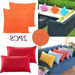 2x outdoor waterproof throw pillow cover cushion