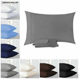 2X Pillowcases Pillow Case Cover Bedding Bedroom Protector Q