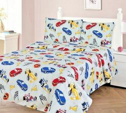 3/4 Piece TWIN/FULL Kids/Teens Fitted Flat SHEET Pillow Case