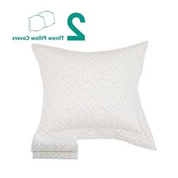 NTBAY 3 Layers Washed Cotton Woven Jacquard Throw Pillowcase