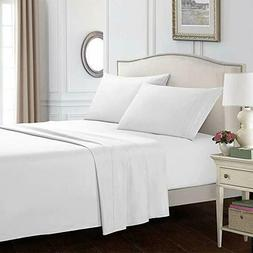 Bed Sheet Set - 4 Piece Set Hotel Luxury Bed Sheets Set Hypo