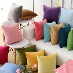 36 Colors Velvet CUSHION COVERS Luxury Throw Pillow Cases So